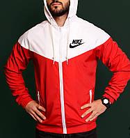 Ветровка мужская молодежная красная непромокаемая легкая все размеры Nike Найк