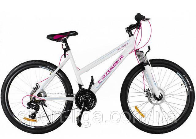 """Велосипед гірський алюмінієвий Crosser Infinity 24"""" білий"""