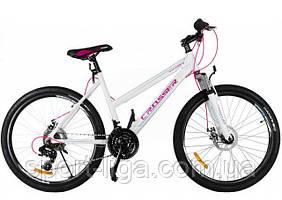 """Велосипед горный алюминиевый Crosser Infinity 24"""" белый серый"""