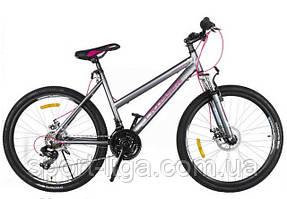 """Велосипед горный алюминиевый Crosser Infinity 24"""" серый серый"""