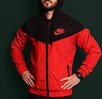 Ветровка мужская повседневная красная непромокаемая легкая все размеры Nike Найк
