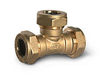 Тройник труба-труба-труба латунный DISPIPE BT25*25*25