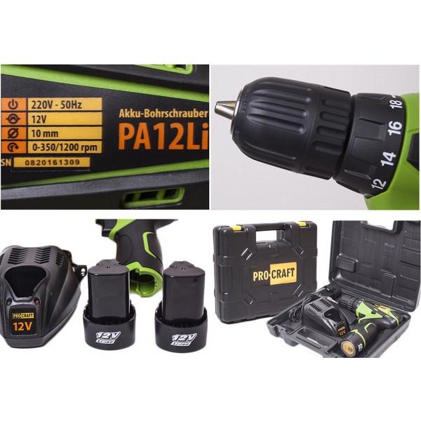 Шуруповерт аккумуляторный Procraft PA122Li