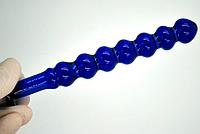 Синяя анальная пробка. Стеклянная