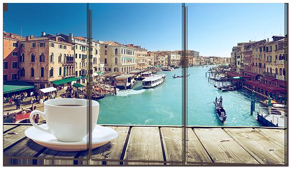 Модульная картина Утренний кофе в Венеции