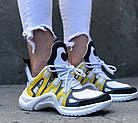 Женские кроссовки Louis Vuitton Archlight White/Yellow (в стиле Луи Витон) белые, фото 2