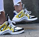 Женские кроссовки Louis Vuitton Archlight White/Yellow (в стиле Луи Витон) белые, фото 3