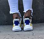 Женские кроссовки Louis Vuitton Archlight White/Yellow (в стиле Луи Витон) белые, фото 4