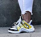 Женские кроссовки Louis Vuitton Archlight White/Yellow (в стиле Луи Витон) белые, фото 7