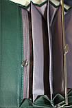 Кошелек женский, темно-зеленый, эко-кожа, фото 6