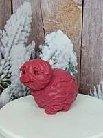 Мыло капустная свинка, ручная работа. Вес 150 г. Беспроигрышный сюрприз друзьям на рождество