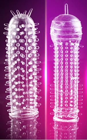 Комплект насадок на презерватив  2шт.