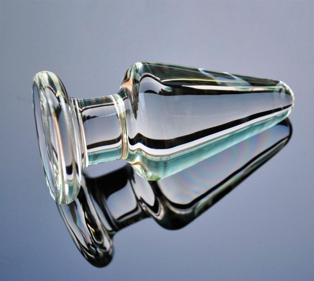 Анальная пробка стекло конус
