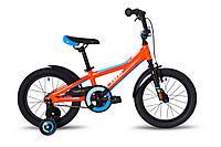 """Велосипед 16"""" Pride TIGER (AL) помаранчевий/блакитний/білий 2018"""