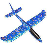 Самолет планер, из пенопласта метательный (синий), фото 1