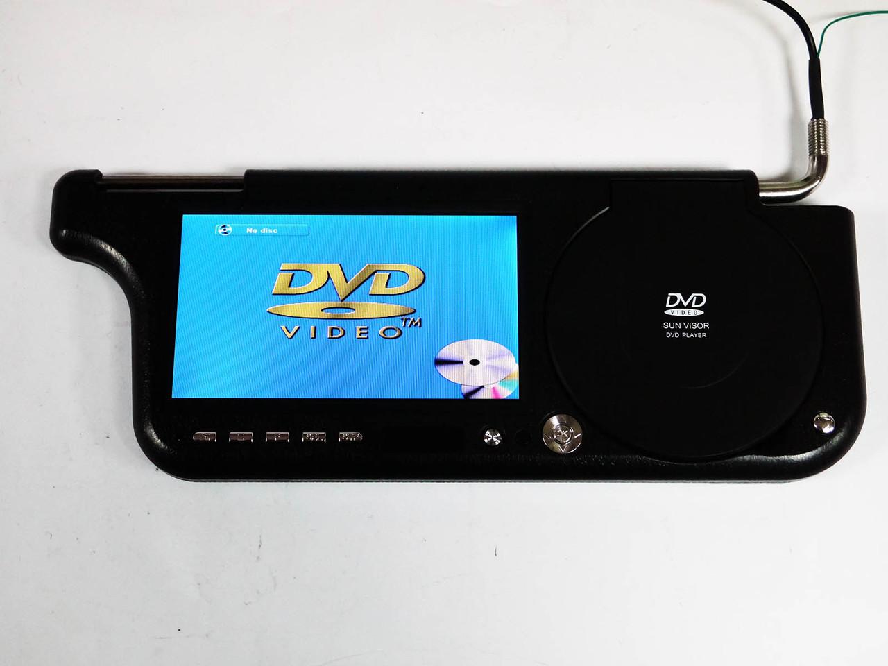 """Авто козырек 7"""" с DVD+USB+SD Черный"""