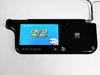 """Авто козырек 7"""" с DVD+USB+SD Черный, фото 1"""