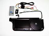 """Авто козырек 7"""" с DVD+USB+SD Черный, фото 2"""