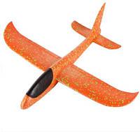 Самолет планер, из пенопласта метательный (оранжевый), фото 1