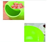 Двухслойная миска с держателем для телефона (зеленый)