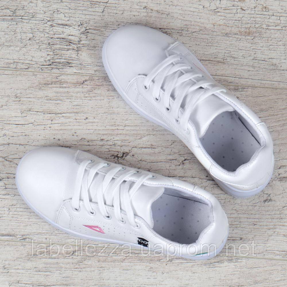 f5893632da4e ... Слипоны женские кроссовки на платформе белые с патчами нашивками на  шнуровке, Белый, 40, ...
