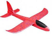 Самолет планер, из пенопласта метательный (красный)