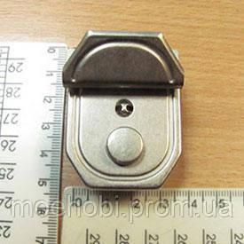 Замок для сумки матовый никель  4610, фото 2