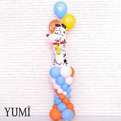 Композиция из воздушных шаров на первый День Рождения
