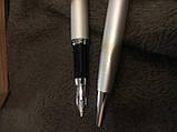 Набір ручок кулькова і перова з єфектом обпаленої металу, фото 2