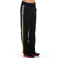 Брюки спортивные женские adidas Pes Open Hem F49340 (черные, для тренировок, прямые, свободные, бренд адидас)