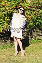 Платье с воланами вышиванка лен бохо шеби шик, вишите плаття вишиванка рюши, фото 4