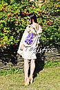 Платье с воланами вышиванка лен бохо шеби шик, вишите плаття вишиванка рюши, фото 5