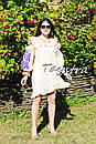 Платье с воланами вышиванка лен бохо шеби шик, вишите плаття вишиванка рюши, фото 3