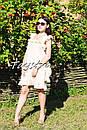 Платье с воланами вышиванка лен бохо шеби шик, вишите плаття вишиванка рюши, фото 9