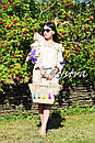 Платье с воланами вышиванка лен бохо шеби шик, вишите плаття вишиванка рюши, фото 6