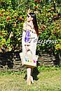 Платье с воланами вышиванка лен бохо шеби шик, вишите плаття вишиванка рюши, фото 10