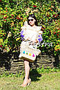 Платье с воланами вышиванка лен бохо шеби шик, вишите плаття вишиванка рюши, фото 2
