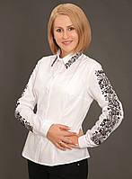 """Вышитая женская рубашка """"Мальовнича"""" (рукава+воротник) (арт. CK1-86.3.11), фото 1"""