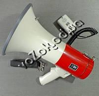 Мегафон рупор громкоговоритель переносной SD-10SH-B 25 Вт со съемным микрофоном, фото 1