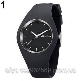 Спортивные часы Женева в черном цвете