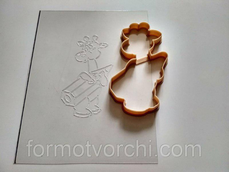 """3D формочки-вырубки для пряников """"Жираф с карандашиком"""""""