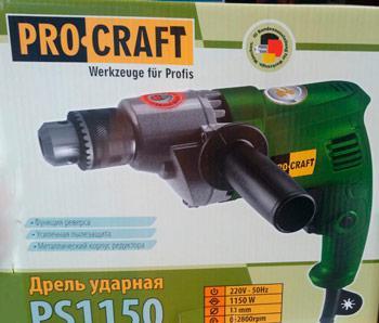 Дрель  Procraft PS-1150 без ударная 2800об/м