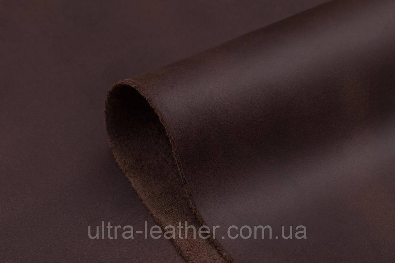 Натуральная кожа КРЕЙЗИ ХОРС коричневый шоколад 450