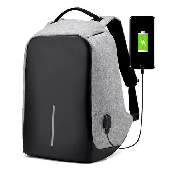 """Рюкзак Bobby антивор, школьный ранец с USB-выходом 15,6"""" 2 цвета"""
