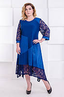 Нарядное платье большого размера Джульетта электрик (58-68), фото 1