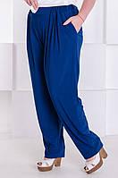 Стильные брюки женские батал Трейси электрик (60-70)