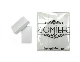 Набор шлифовщиков для ногтей Komilfo 50/30/12 мм, белый, 120/120, 24 шт