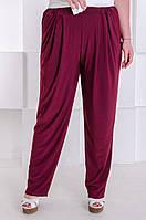 Стильные брюки женские большого размера Трейси марсала (60-70)