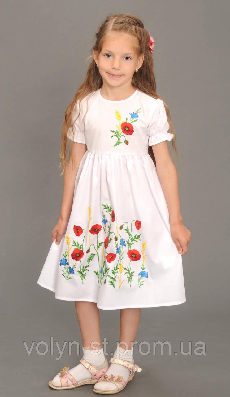 Платье детское вышитое - ЧПКП