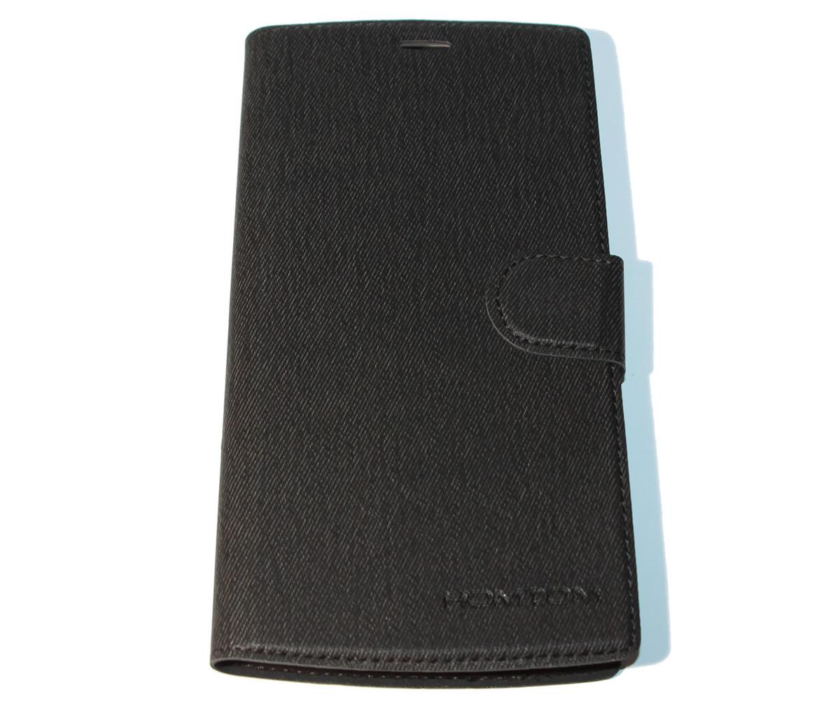 Чехол-книжка для смартфона Homtom HT7, black (с магнитом)